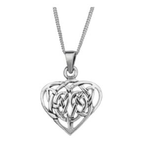 Celtic Knotwork Silver Heart Pendant 0483